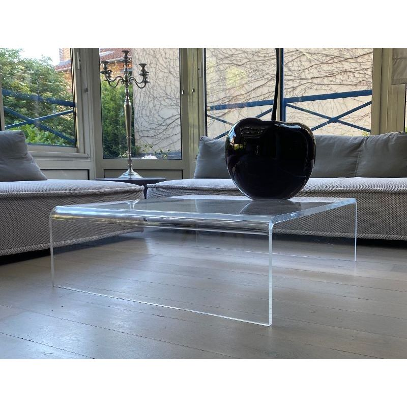 Table Basse Design En Plexiglas Transparent Taille Table Basse 800x800x350